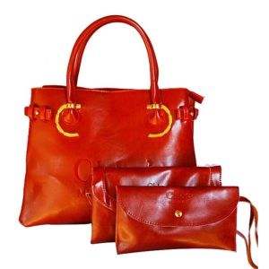3-in-1 Women's Handbag - Maroon