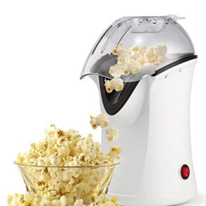Popcorn Maker, Popcorn Machine, 1200W Hot Air Popcorn Popper Healthy Machine No Oil Needed (White