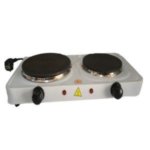 Stainless Steel Double Burner HotPlate White