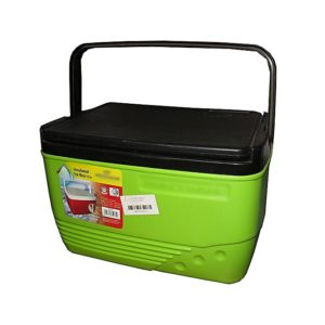 Cooler Box Ice Box Chest 14 Litres - Green & Black