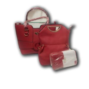 DESIGNERS' RED HANDBAG SET