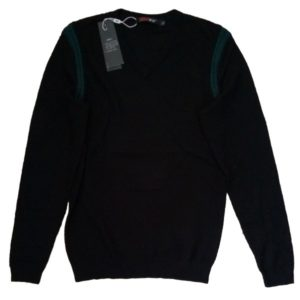 Casual Black T-Shirt Long Sleeved